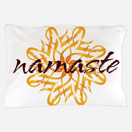namaste_warm_white.png Pillow Case