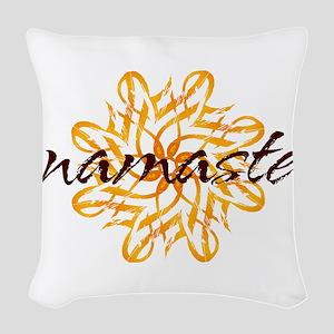 namaste_warm_white Woven Throw Pillow
