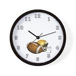 Football & Helmet Wall Clock