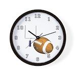 Helmet and Goal Wall Clock