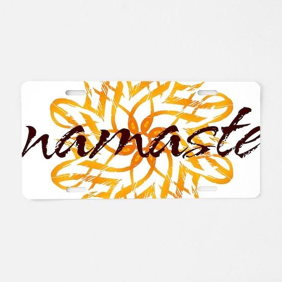 namaste_warm_white.png Aluminum License Plate