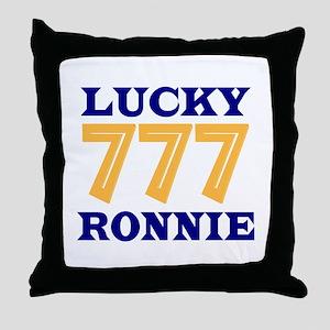 Lucky Ronnie Throw Pillow