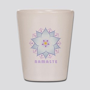 3-namaste-4 Shot Glass
