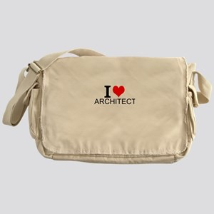 I Love Architecture Messenger Bag