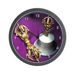 Buddhist Dorje and Bell Wall Clock