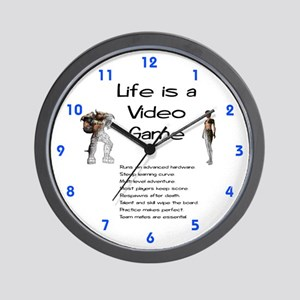 Life is a Video Game Wall Clock