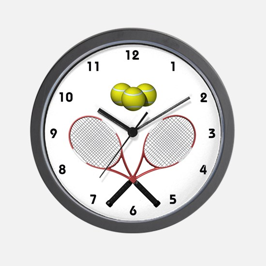 Tennis Racques Crossed Wall Clock
