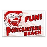Pontchartrain Beach Rectangle Sticker