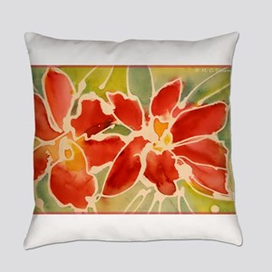 Red orchids! Beautiful art! Everyday Pillow