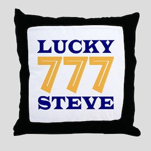 Lucky Steve Throw Pillow