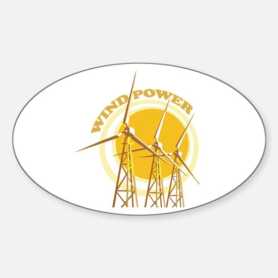Wind Power Sticker (Oval)