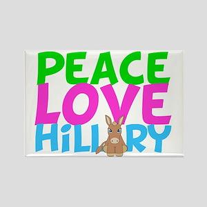 Love Hillary Rectangle Magnet