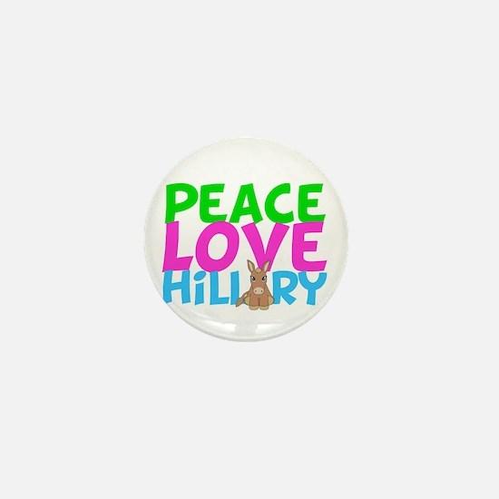 Love Hillary Mini Button