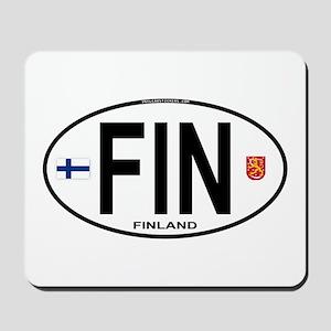 Finland Euro Oval Mousepad