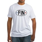 Finland Euro Oval Fitted T-Shirt