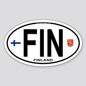 Finland Euro Oval Oval Sticker