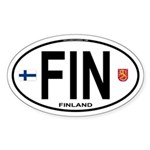 Finland Euro Oval Oval Sticker