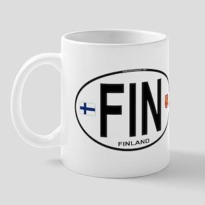 Finland Euro Oval Mug