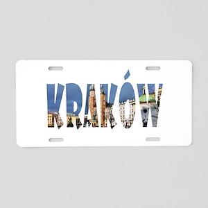 Krakow Aluminum License Plate