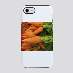 short carrots on red at a mark iPhone 7 Tough Case