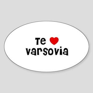 Te * Varsovia Oval Sticker