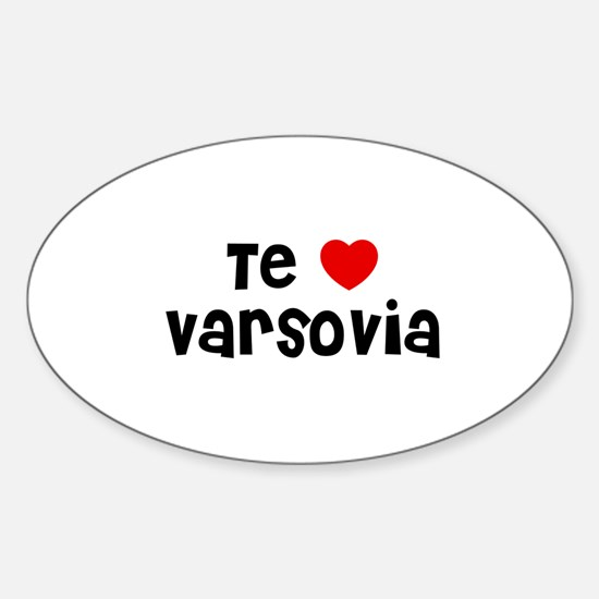 Te * Varsovia Oval Decal