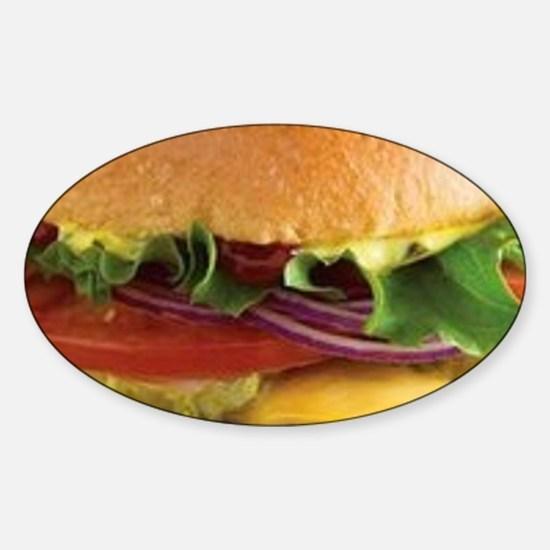 funny cheeseburger Decal