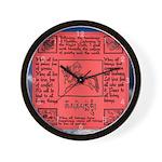 Buddhist Red Prayer Flag Wall Clock
