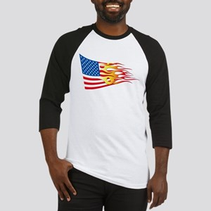 Hot Rod Flag Baseball Jersey