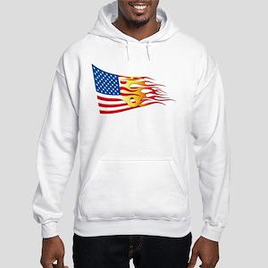 Hot Rod Flag Hooded Sweatshirt