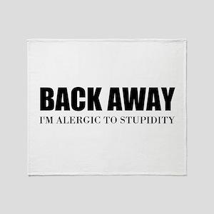 Back Away Throw Blanket