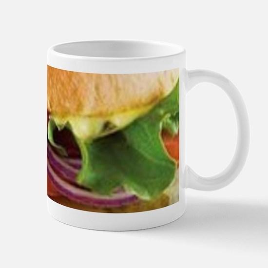 funny cheeseburger Mugs