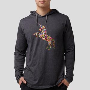 Prismatic Rainbow Unicorn Long Sleeve T-Shirt