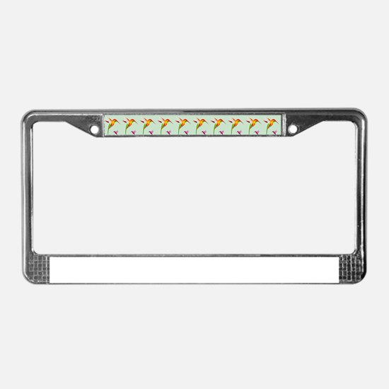 Repeating Hummingbirds License Plate Frame