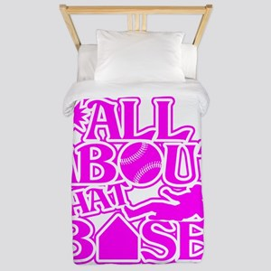 ALL ABOUT THAT BASE SOFTBALL Twin Duvet