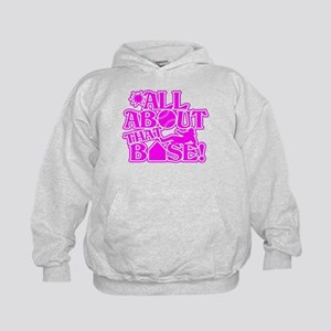ALL ABOUT THAT BASE SOFTBALL Kids Hoodie