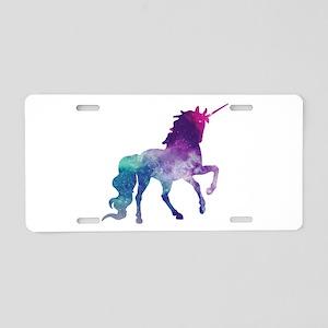 Super Nova Unicorn Aluminum License Plate