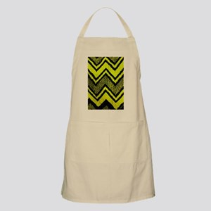 Black And Yellow Zig Zags Apron