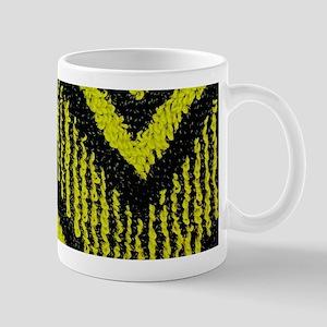 Black And Yellow Zig Zags Mugs