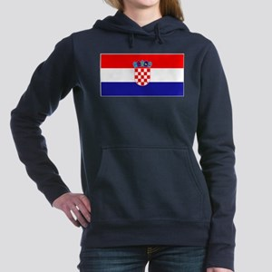 Croatia Flag Women's Hooded Sweatshirt