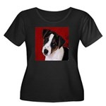 JRT Puppy Ink Sketch Women's Plus Size Scoop Neck