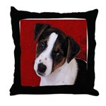 JRT Puppy Ink Sketch Throw Pillow