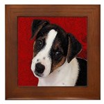 JRT Puppy Ink Sketch Framed Tile