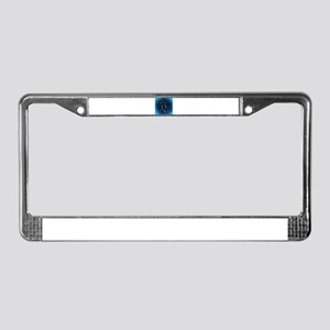 Blue Abstract Cat License Plate Frame