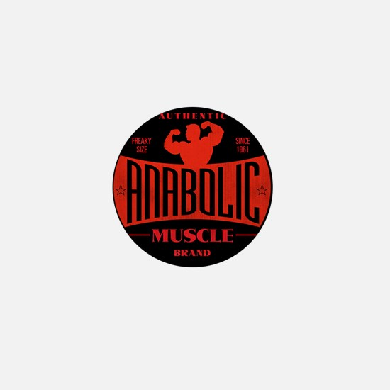 RETRO MUSCLE LOGO Mini Button