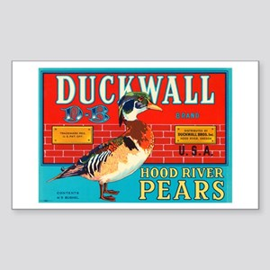 Duckwall Brand Pears Vintage Sticker (Rectangular