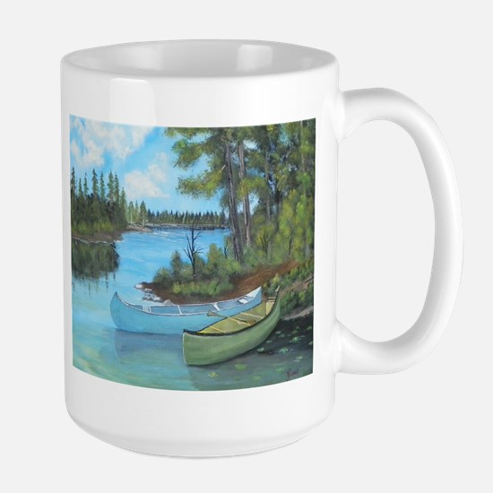 Canoe Painting Large Mug