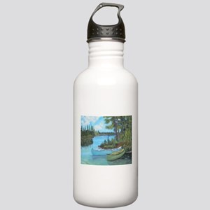 Canoe Painting Stainless Water Bottle 1.0L