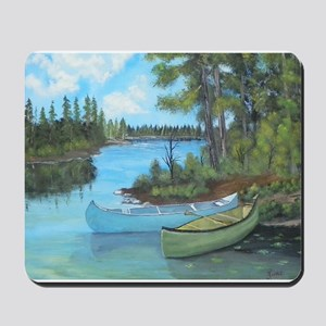 Canoe Painting Mousepad
