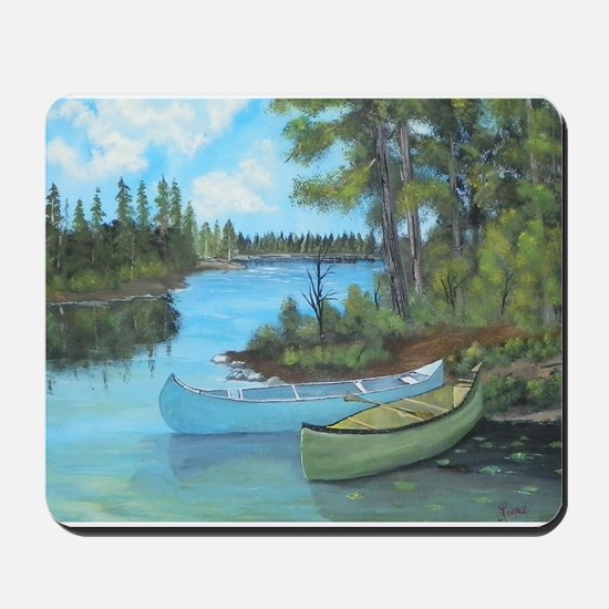 Canoe Painting Mousepad